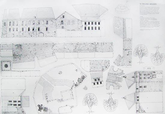 Bastelbogen Schloss Moers